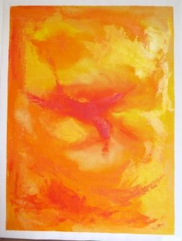 N° XO23 Abstrakt orange 44,5x59,5cm